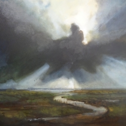 Dilwyn Roberts. Black Cloud. Oil on Canvas. £500