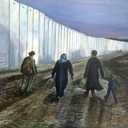 Patrick Owen. The Separation wall. Oil on Canvas. £450