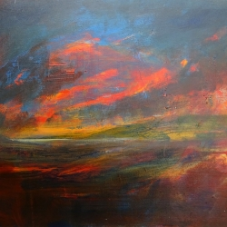 Shelley Upton. The Red Dawn. Acrylic on Canvas. £175