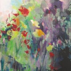 Hilary Reed. Meadow 2.Acrylic