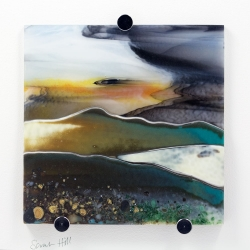 Sarah Hill 'Autumn-Evening-over-the-Hills' fused glass