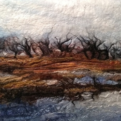 Whixall Moss, Felted wool by Susan Mulcock